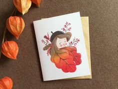A personal favorite from my Etsy shop https://www.etsy.com/listing/478596362/beautiful-autumn-color-illustration  #etsy #etsyshop #etsymaineteam #illustration #card #cards #autumn #acorn #girl #papergoods #cardset #kidsart #kids #cute #jjlynndesign