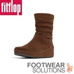 FitFlop Crush in chocolate suede Fall Winter, Autumn, Fitflop, Crushes, Footwear, Wedges, Chocolate, Boots, Fashion