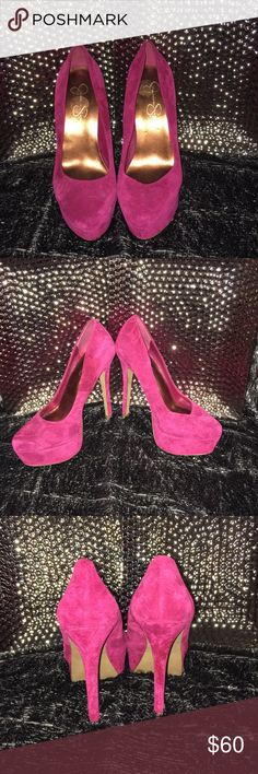 Jessica Simpson  suede heels Slightly used,, platforms Jessica Simpson heels Jessica Simpson Shoes Heels