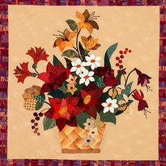 Flower Applique Quilt Block Patterns | All images on this site are protected by copyright law and no image ...