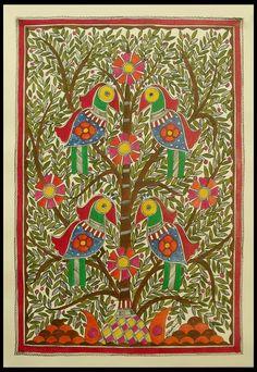 Madhubani painting - Tree of Life | NOVICA