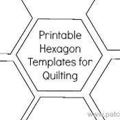 "2"" Hexagon Printable Template - via @Craftsy"