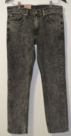 Mens  Levi's 511 Slim Fit Denim Black Jeans w/Slightly Tapered Leg Size 30 #Levis #Slim #Everyday