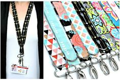 What better way to carry your office key and/or name badge than a Designer Fabric Lanyard? Made of 100% cotton fabrics, these lanyards are perfect for teachers, nurses, college students, coaches, and more. These make a great gift idea! See all the available styles at pickyourplum.com.