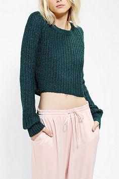 Kimchi Blue Shaker Cropped Sweater