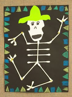 """WHAT'S HAPPENING IN THE ART ROOM??: 2nd GRADE--""""Day of the Dead"""""""