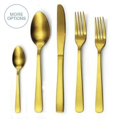 Gold, Rose Gold, or Matte Black Cutlery Flatware Set