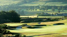 The PGA Centenary Course at Gleneagles in Perthshire, Scotland, will host the 40th Ryder Cup, where the US team will make an attempt to win back the trophy from the European team. Designed by professional golfer Jack Nicklaus, the golf course is located in the heart of Scotland, and boasts beautiful landscape views of the Perthshire countryside.