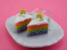 Rainbow Shortcake Earrings by shayaaron on Etsy, $24.00
