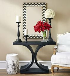 asian entryway tables | Black and White Asian Entryway | Entryway | Shop by Room | Wisteria