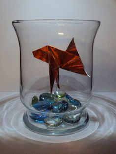 Origami Goldfish in Glass Bowl ($20 on Etsy)