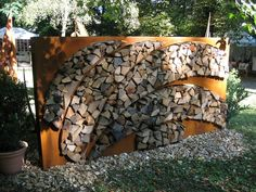 Woodpile with character!