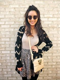 Spotted blogger BFF @Sensible Stylista in a Charlotte Russe cardigan. See more of her #ootd on her blog - A Sensible Stylist