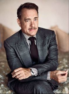 Tom Hanks looking classy with a stache