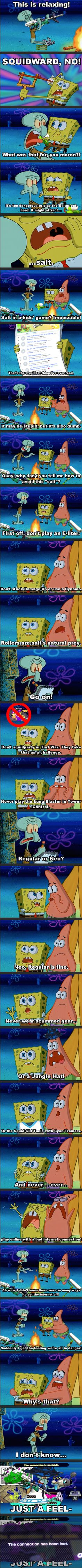 Splatoon Salt - SpongeBob Comic