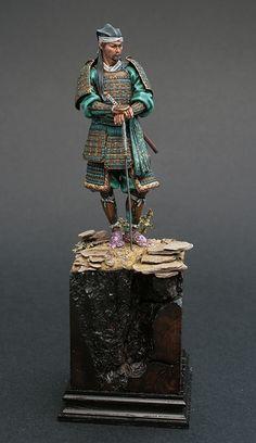 "Japanese Ronin ""toy soldier"" miniature custom-painted figurine"