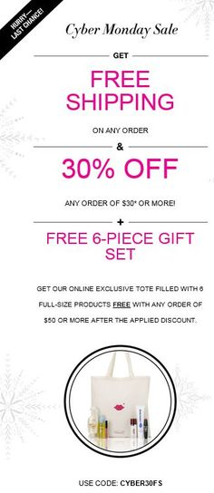 Hurry Last Chance to get your FREE 6 Piece Full size gift set ,Free shipping and 30% off!!! Shop Now at www.YourBeautylady.com #cybermonday #Avon #Freeshipping #avoncoupon