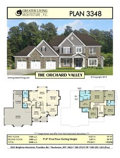 Plan 3348: THE MILL VALLEY - I like this a lot, but there would need to be a Master on the ground floor. Behind the garage would do.