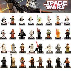 Building blocks Darth Vader Yoda Obi Wan Han Solo Clones BB-8 R2-D2 BB8  toys Kids Gift
