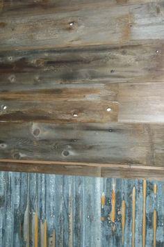 Man Den Entrance To Bathroom Via Barn Door Rusted