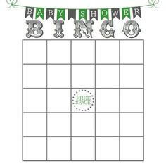 Free Printable Baby Shower Bingo Cards Free
