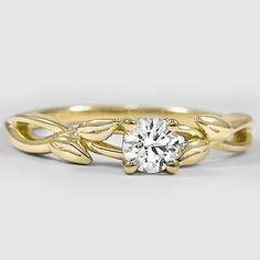 18K Yellow Gold Budding Willow Ring