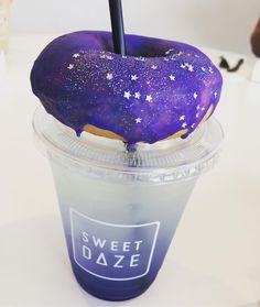 Dare to be the donut in a world full of plain bagels! #sweetdaze #galaxydonut