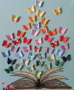"Could put butterflies on clips for students' ""CREATE"" wall"