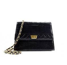 9696777ab50ca0 Chanel Vintage Shoulder Bag In Black Lambskin Vintage Chanel, Luxury  Handbags, Luxury Branding,