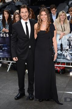 """Christian Bale and wife Sibi Blazic attend the UK premiere of """"The Dark Knight Rises"""" at Odeon Leicester Square"""