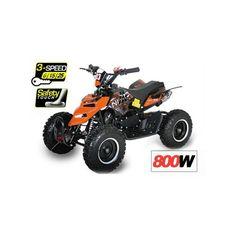 Elektroquad ATV 800W ECO Repti mit 6 Zoll Fusspedal und 3 Stufen Drossel
