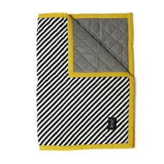 Ferm Living • Quilted Blanket / Playmat • Striped / Yellow