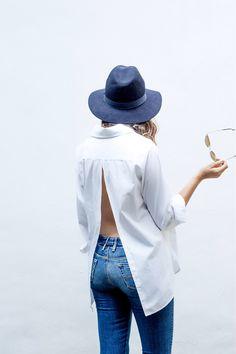 A Pair & A Spare | DIY Open Back Shirt