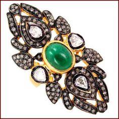 #Emeraldring #Vintagering #Victorianring #Estatejewellery #Diamondring #Artdecojewellery