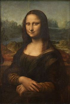 """Cette œuvre à été peinte par Léonarde de Vinci. Le nom de le pienture est """"La Joconde"""" ou """"Mona Lisa"""". #art"""