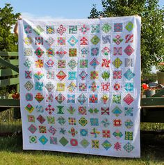 Carla of Lollyquiltz who did a fabulous modern take on the Farmer's Wife Sampler Quilt.