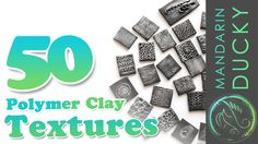 50 POLYMER CLAY TEXTURES with ball tool only by Mandarin Ducky