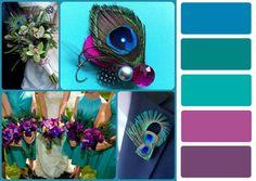 teal and purple wedding color combinations – Bing Images News 2019 - Dankeskarten Hochzeit 2019 - Peacock Color Scheme, Teal Color Schemes, Purple Peacock, Peacock Colors, Peacock Theme, Purple Teal, Brown Teal, Peacock Decor, Dark Teal