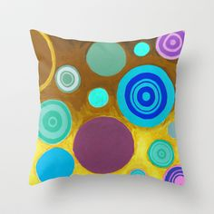 Specks Of Life 70's Mode Throw Pillow by Serena Gailey - $20.00