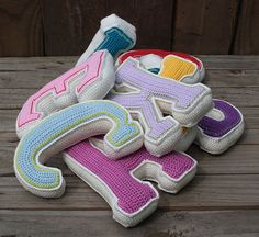 Ravelry: One 3D LETTER - crochet pattern, PDF, PATTERN FOR ONE LETTER ONLY pattern by CAROcreated design