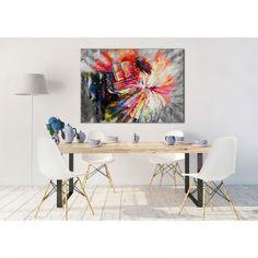 "Tablou living modern ""Cantec pentru pian"" pentru amenajari originale, care va transmite in orice incapere dragoste pentru viata, culori si muzica. Comanda online tablou living modern 70 x 50 cm pe aa-design-interior.ro."