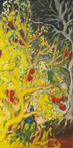 L'Albero dai Buoni Frutti olio su tela 100x50 cm € 800,00 #SaraMorghese  Per acquistare un'opera o commissionare un dipinto contatta c.muscarella@ideedisuccesso.com