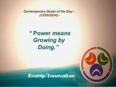 Contemporary Quote of the Day:- (12/05/2014):- by Enship/Innovation via slideshare