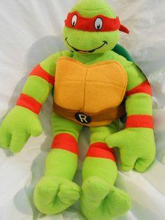 """Ninja Turtles TMNT 2014 Plush 23"""" Figure RAPHAEL Cuddle Pillow NWT VHTF! #Nickelodeon"""