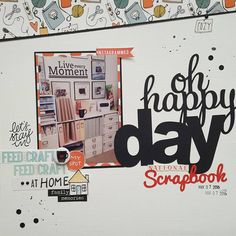 Happy National Scrapbook Day! by @scrapbuddy (FYC Coffee Lovers mini flair and Homebodies kit designed by Brandi Kincaid)