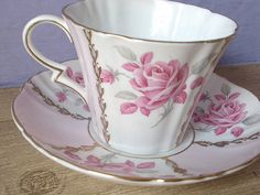 Antique tea cup and saucer Royal Standard English by ShoponSherman