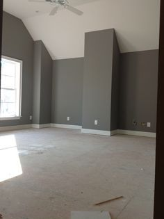 Paint Pewter Cast Sherwin Williams Between Color Of Light And Dark Grey For Front Living Area