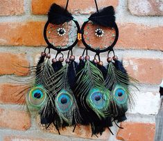 Peacock Owl Dreamcatcher by VillageDreams on Etsy, $38.00