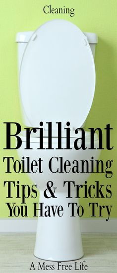 Toilet bowl got you down? Can't find an easy way to get it clean and keep it that way? These toilet cleaning tips do the job! | Hacks | Deep cleaning | Bathroom | Home