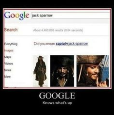 It's CAPTAIN Jack Sparrow